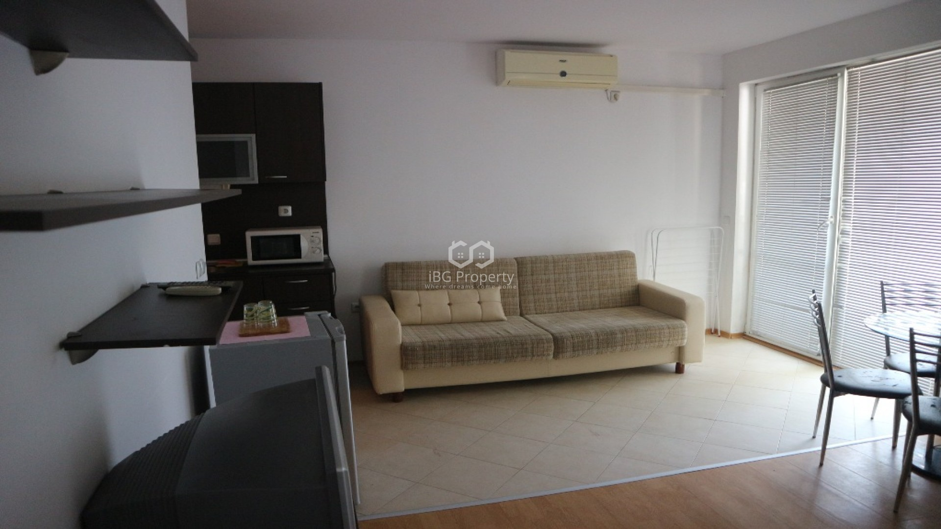 One room apartment Sunny Beach 45 m2