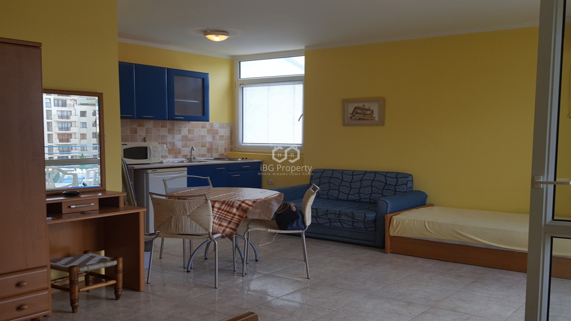 One room apartment Sunny Beach 46 m2