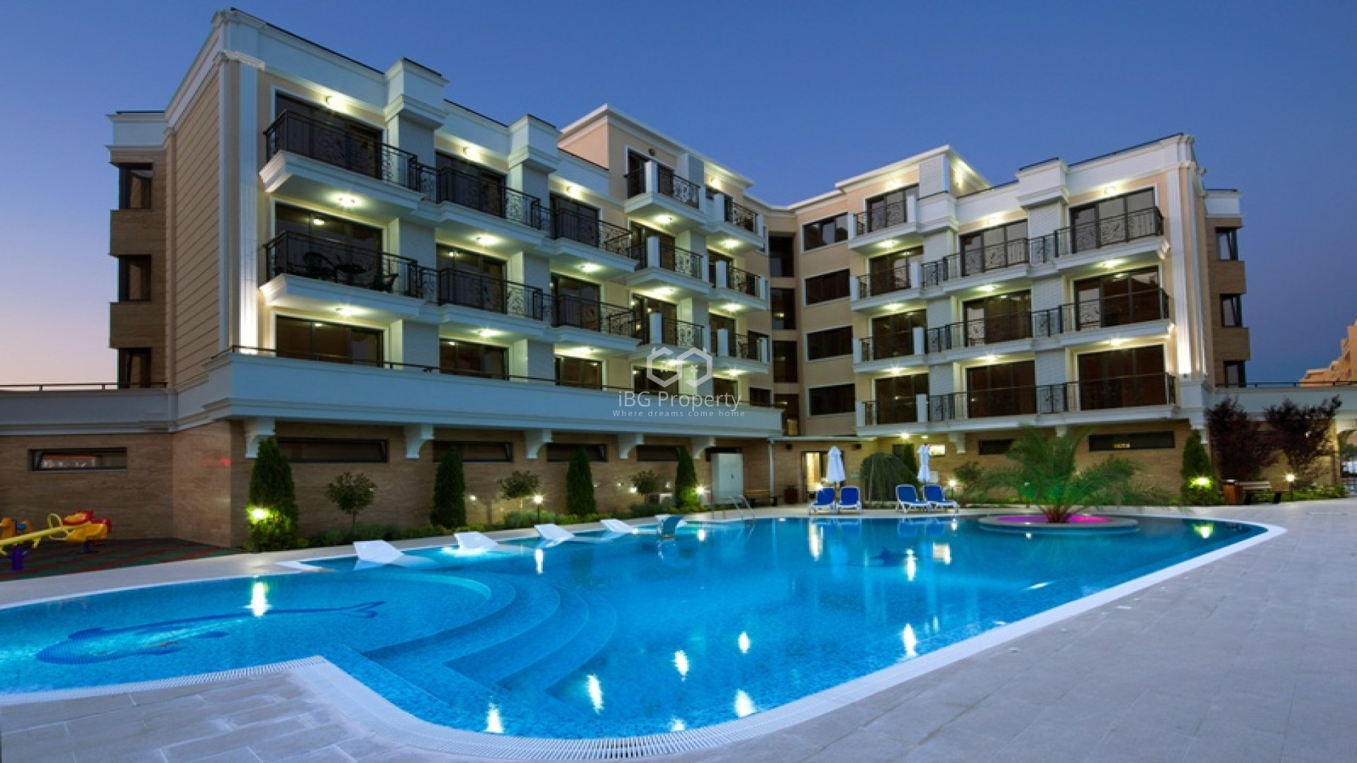Two bedroom apartment Sunny Beach 71 m2