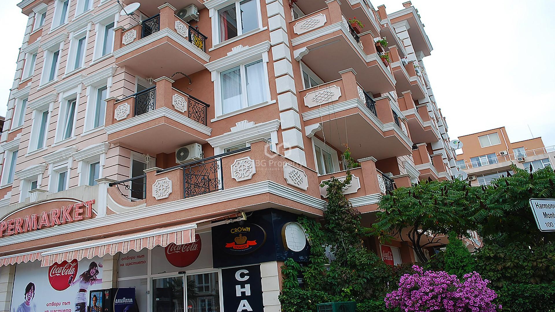 One room apartment Sunny Beach 35 m2